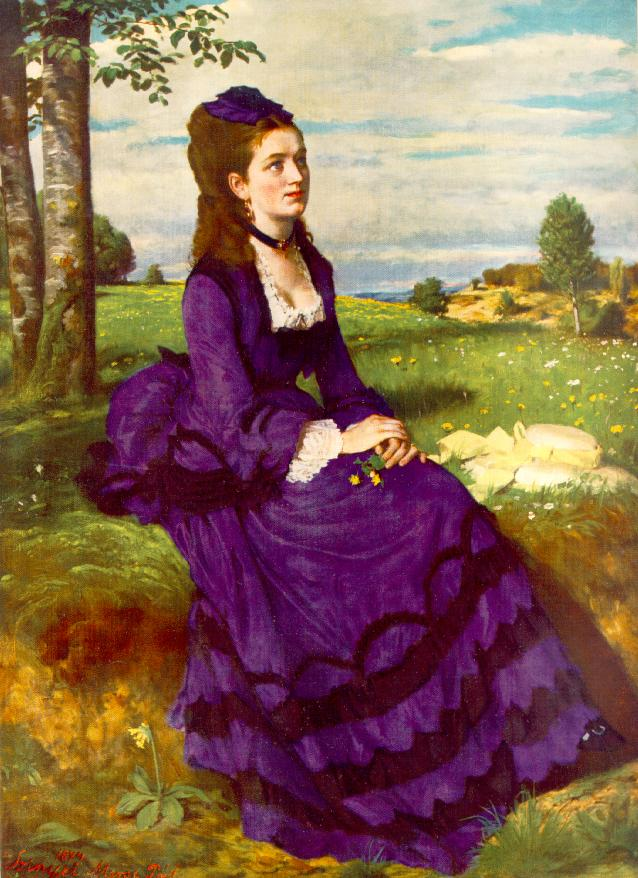 Lady in Violet 1874 | Pai Merse Szinyei | Oil Painting