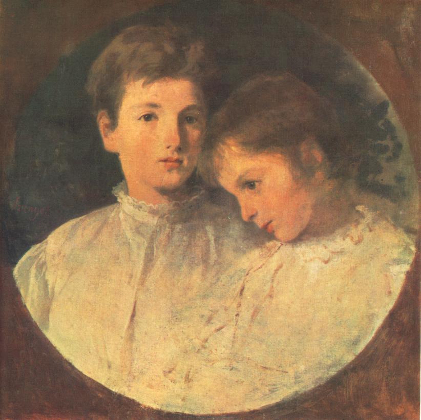 Istvan and Bela 1868 | Pai Merse Szinyei | Oil Painting