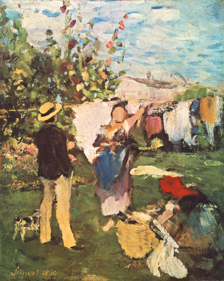 Clothes Drying 1869 | Pai Merse Szinyei | Oil Painting