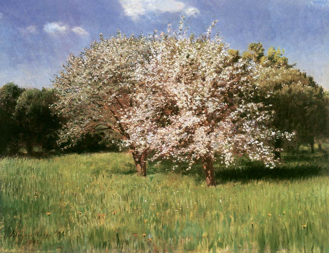 Blooming Apple Trees 1902 | Pai Merse Szinyei | Oil Painting