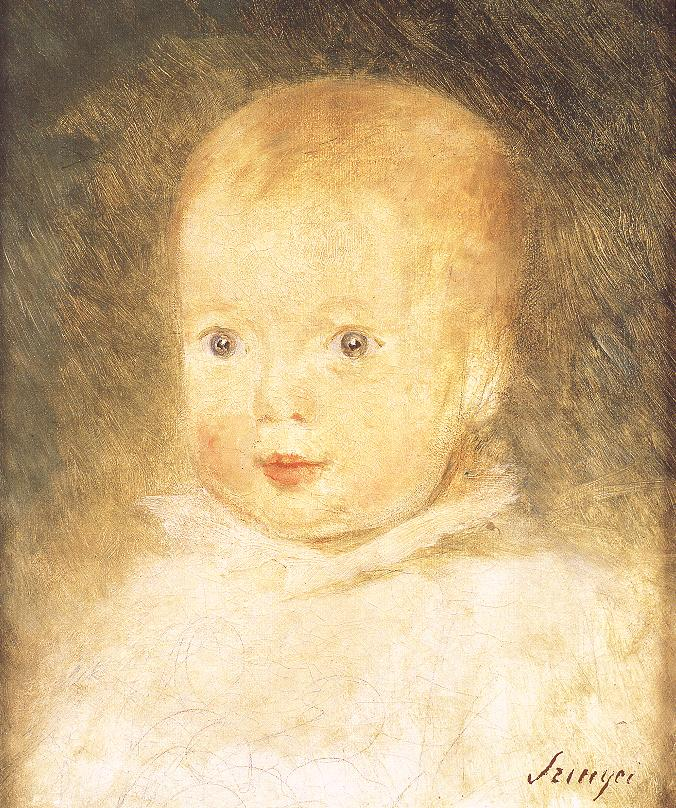 Baby Felix 1874 | Pai Merse Szinyei | Oil Painting