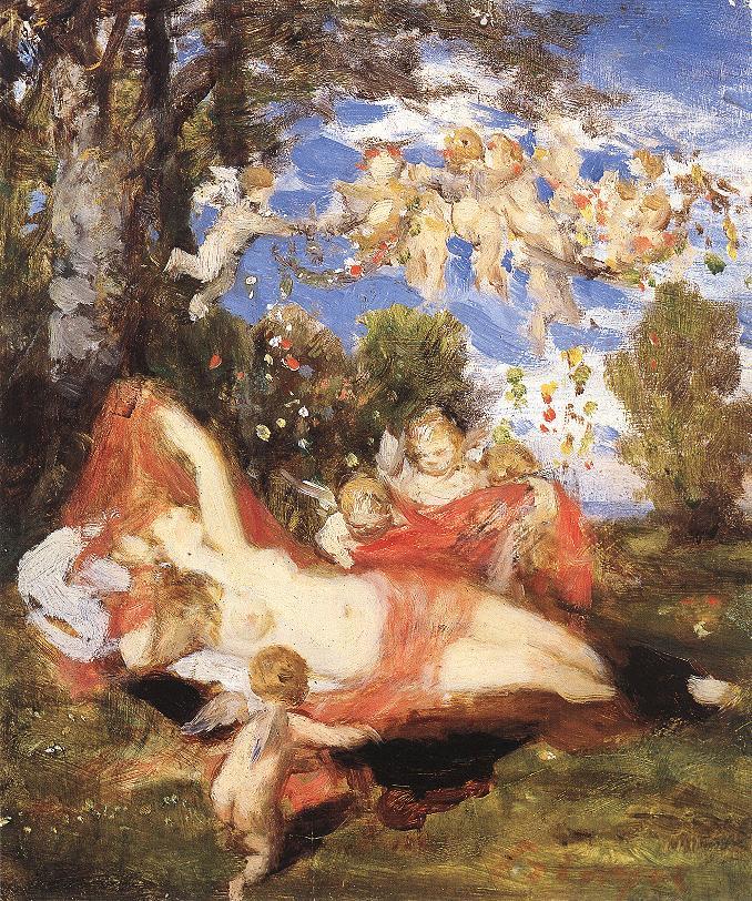 Awakening of Spring 1878 | Pai Merse Szinyei | Oil Painting