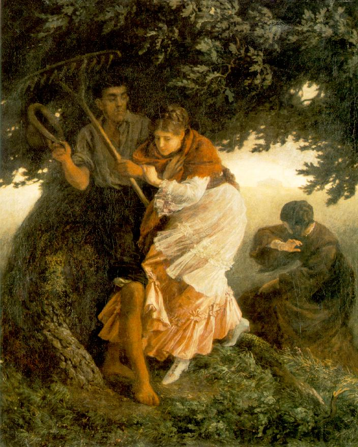 Thunder storm (sketch) c 1875 | Bertalan Szekely | Oil Painting