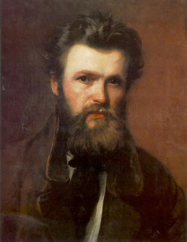 Portrait of Miklos Izso 1860s | Bertalan Szekely | Oil Painting