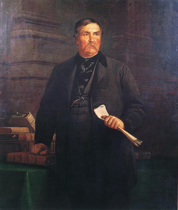 Portrait of Ferenc Deak 1869 | Bertalan Szekely | Oil Painting