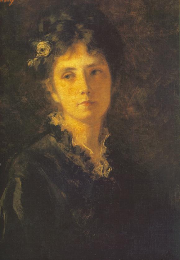 Miss Mesterhazy c 1875 | Bertalan Szekely | Oil Painting