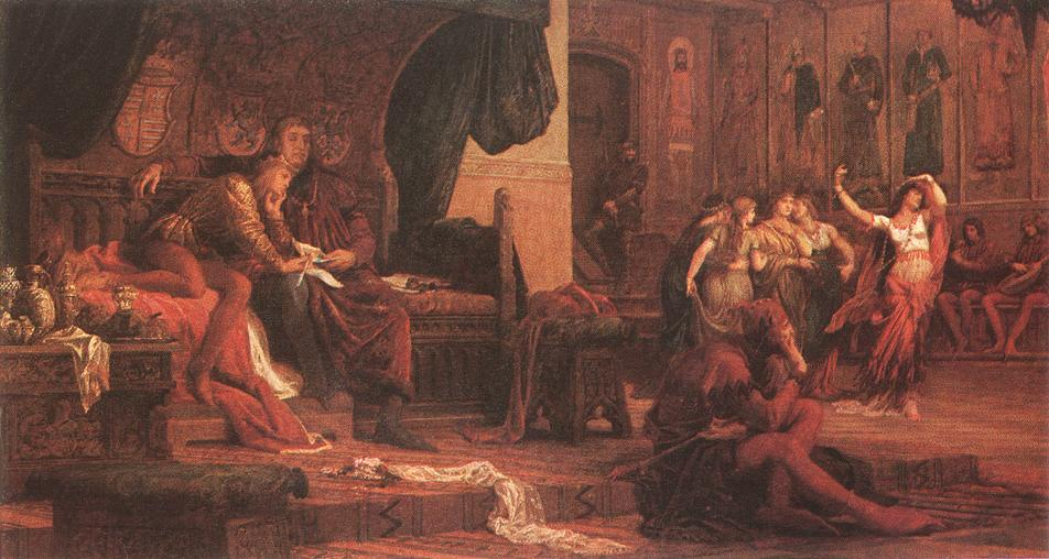 King Laszlo V and Ulrik Cillei 1870 | Bertalan Szekely | Oil Painting