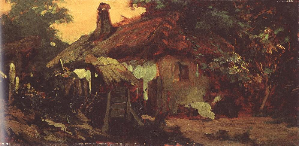 House at Szada 1880s | Bertalan Szekely | Oil Painting