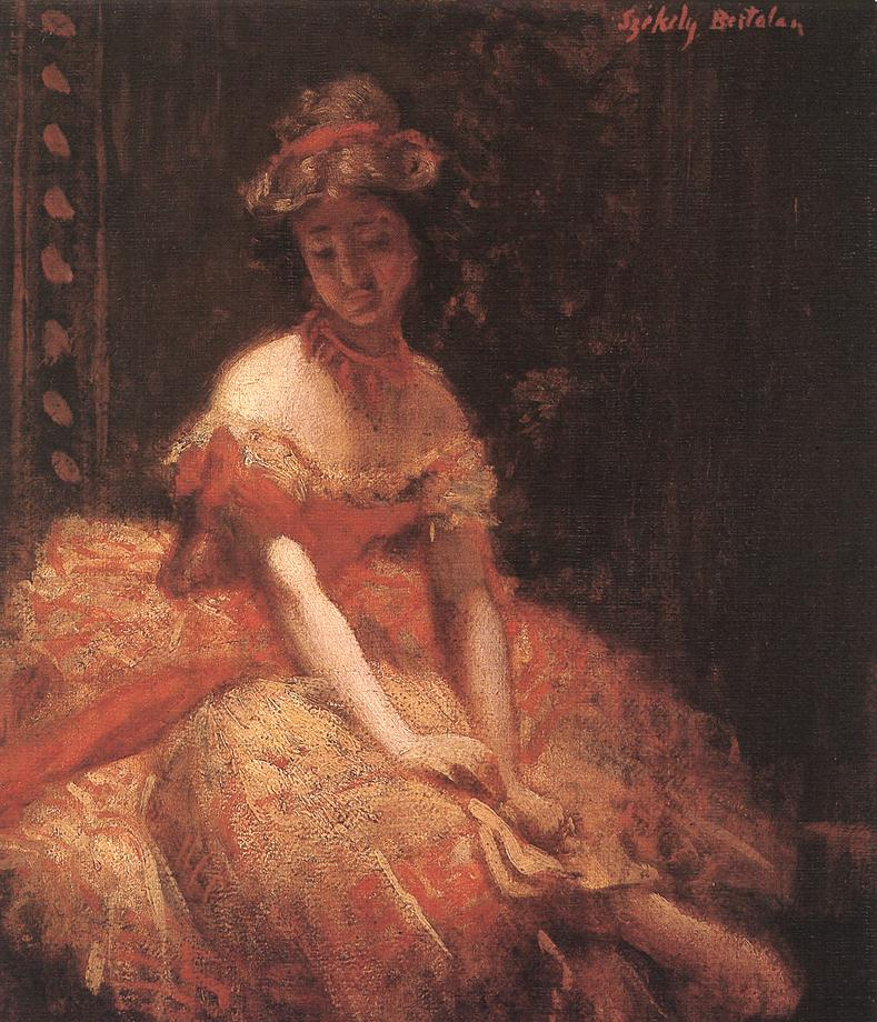 Dancer (study) c 1875 | Bertalan Szekely | Oil Painting