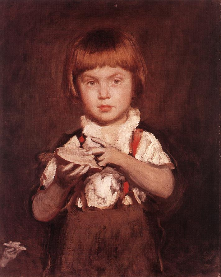 Boy with Bread and Butter c 1875 | Bertalan Szekely | Oil Painting