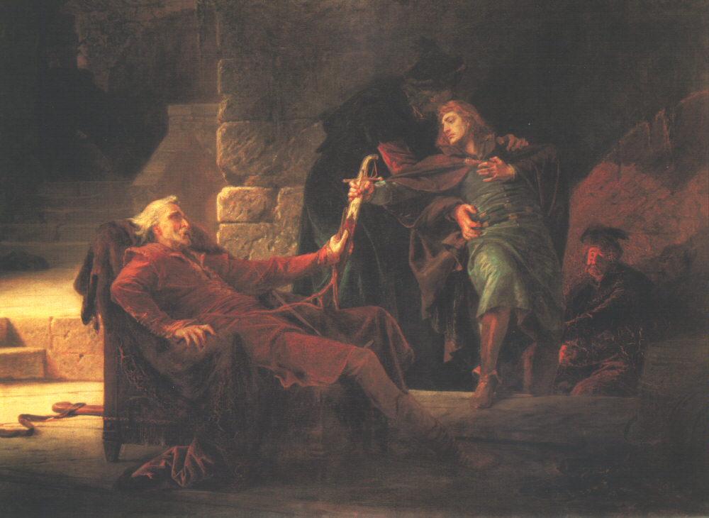 Escape of Imre Thokoly (Farewell of Imre Thokoly) 1873 | Bertalan Szekely | Oil Painting