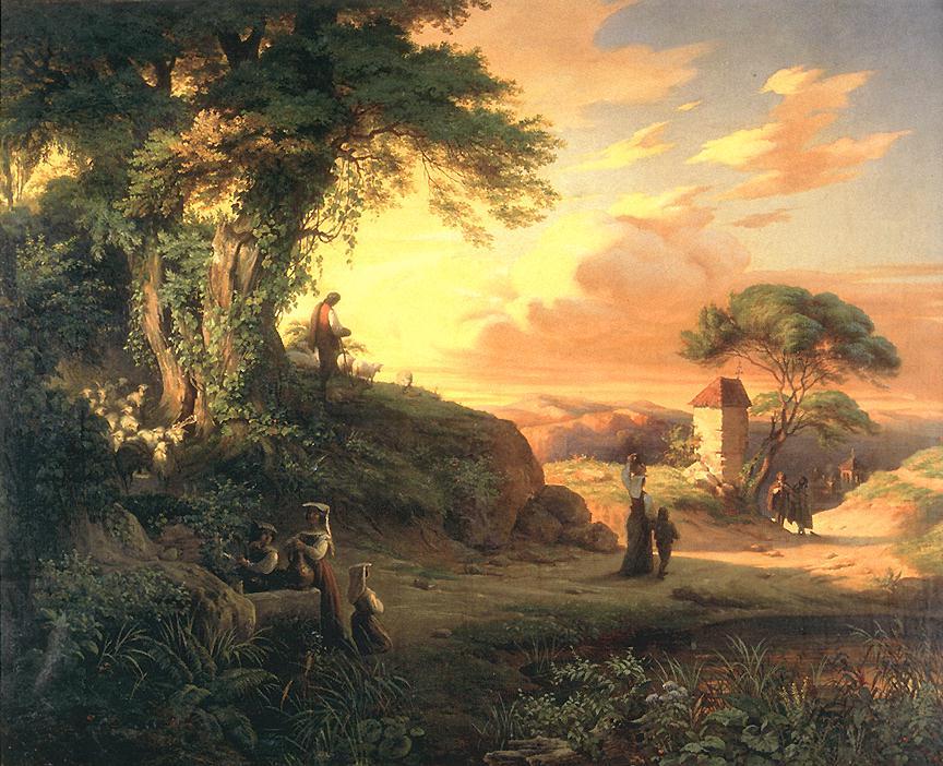 Romantic Scene 1851 | Henrik Weber | Oil Painting