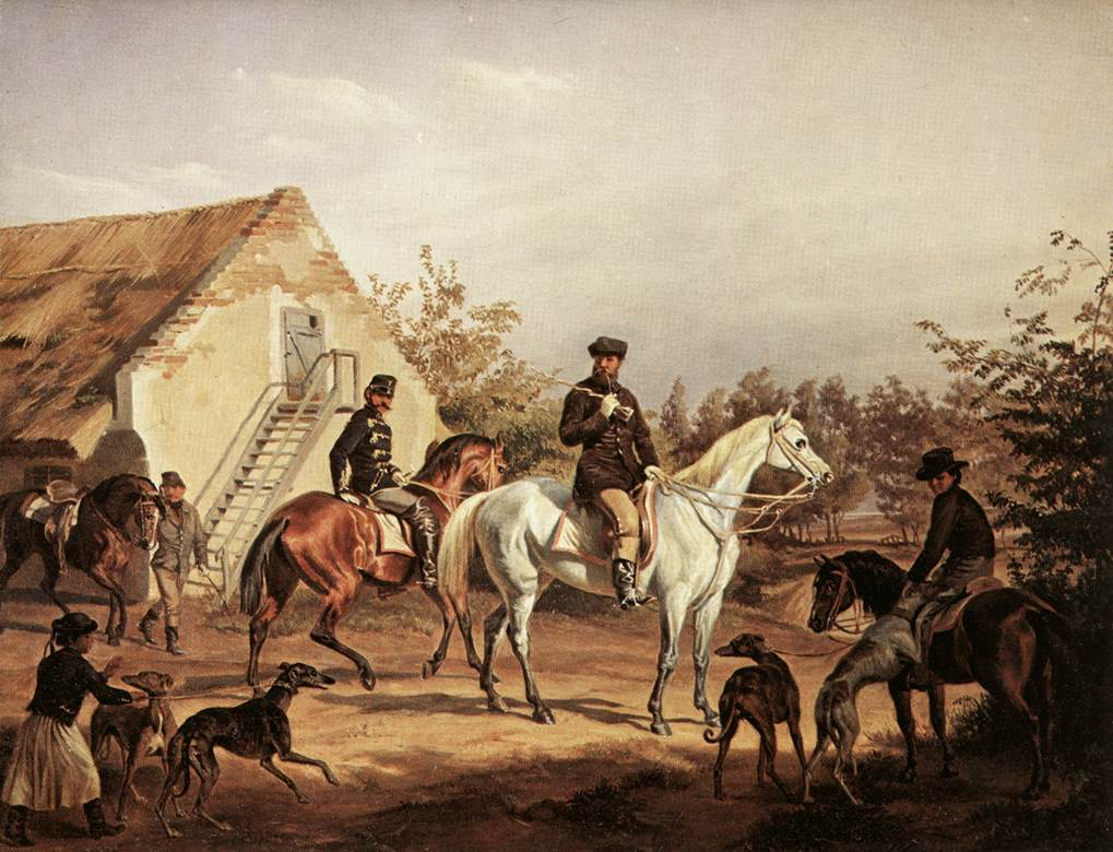 Going off to Hunting 1856 | Karoly Sterio | Oil Painting