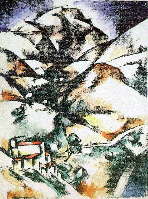 Monte Venere 1921   Henrik Stefan   Oil Painting