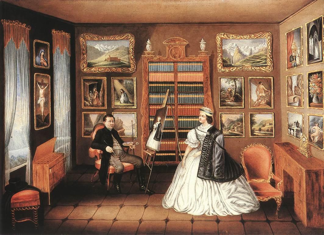 The Artst's Atelier 1847 49 | Alajos Stech | Oil Painting