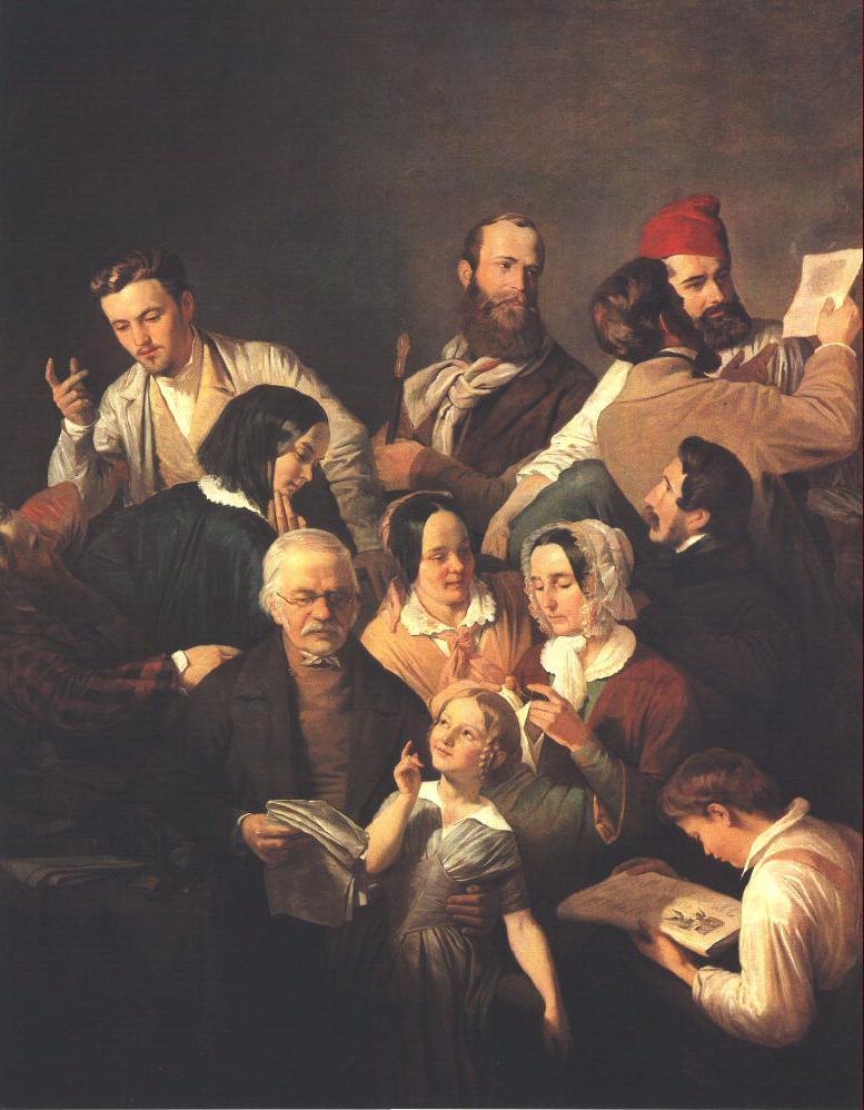 The Weber Family 1846 | Henrik Weber | Oil Painting
