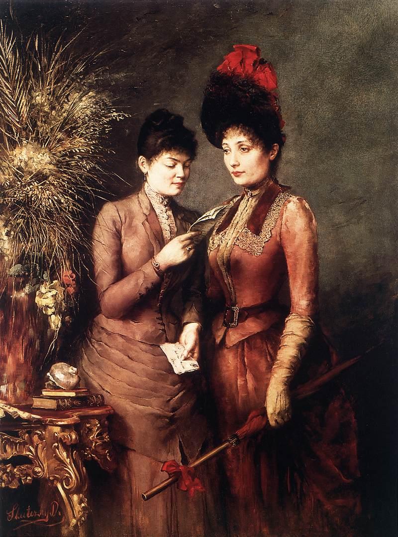 Girlfriends   Dome Skuteczky   Oil Painting