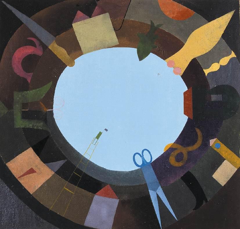 Grasping 1960s   Gusztav Sikuta   Oil Painting