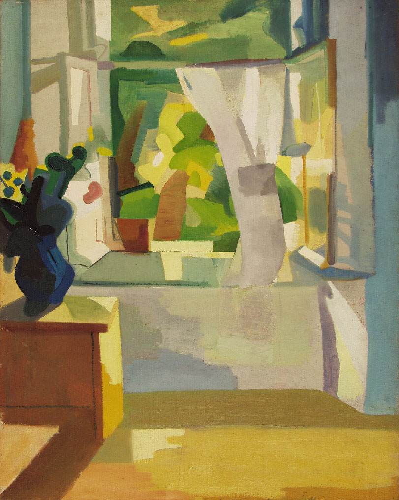 Suburb (Interior with Open Window) | Erno Schubert | Oil Painting