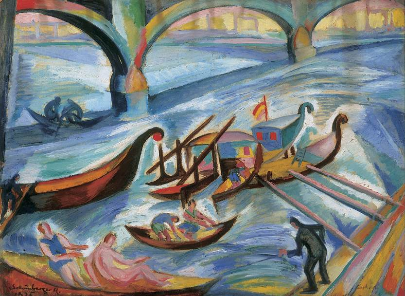 Quay of the Danube 1925   Armand Schonberger   Oil Painting