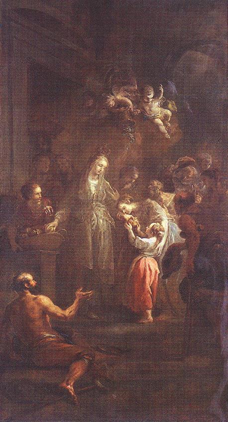 Saint Elisabeth Distributing Alms c 1778 | Johann Martin Schmidt | Oil Painting