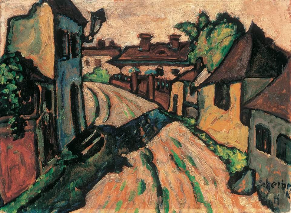 Village Street   Hugo Scheiber   Oil Painting