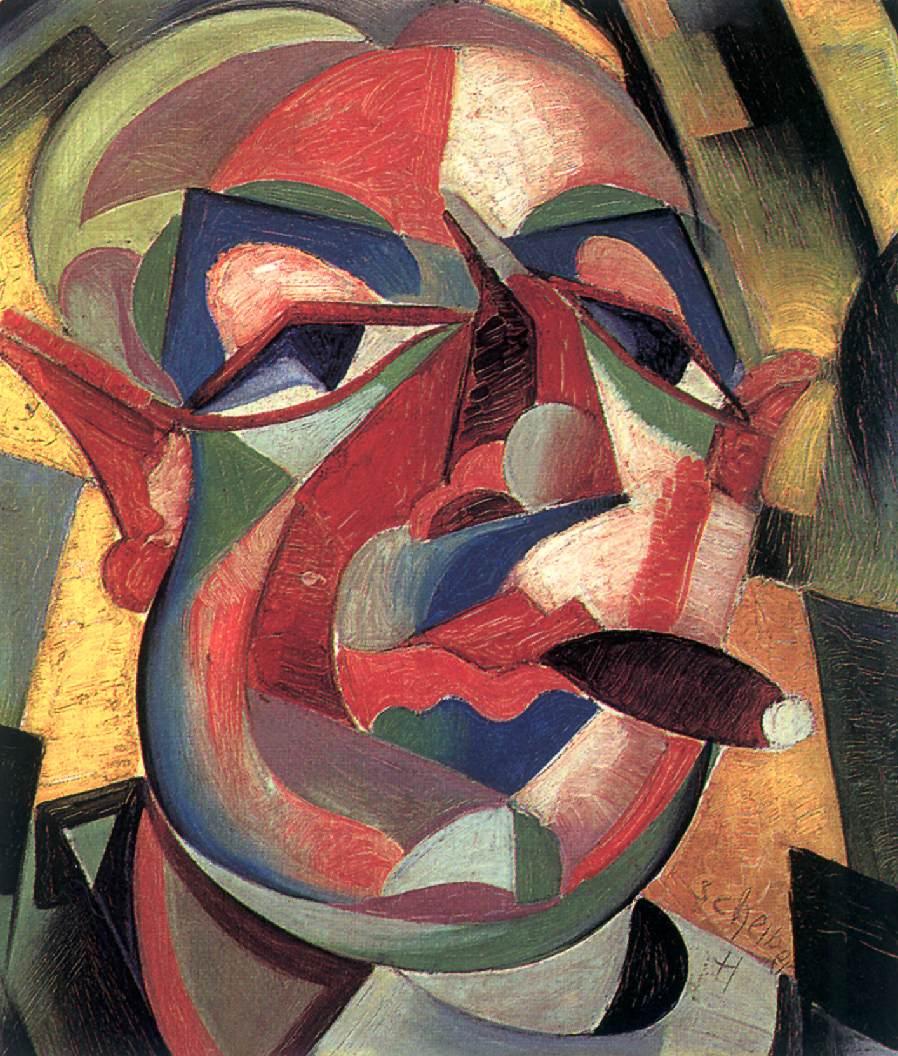 Self portrait with Cigar c 1925   Hugo Scheiber   Oil Painting
