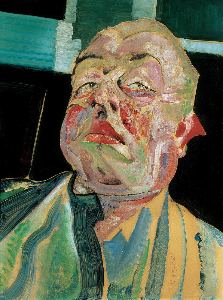 Self portrait c 1925 | Hugo Scheiber | Oil Painting
