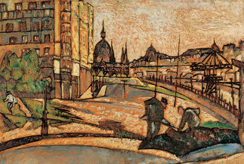 Road Maintenance on the Bank of Danube 1920 22 | Hugo Scheiber | Oil Painting