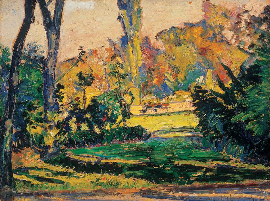 Lights in the Park   Hugo Scheiber   Oil Painting