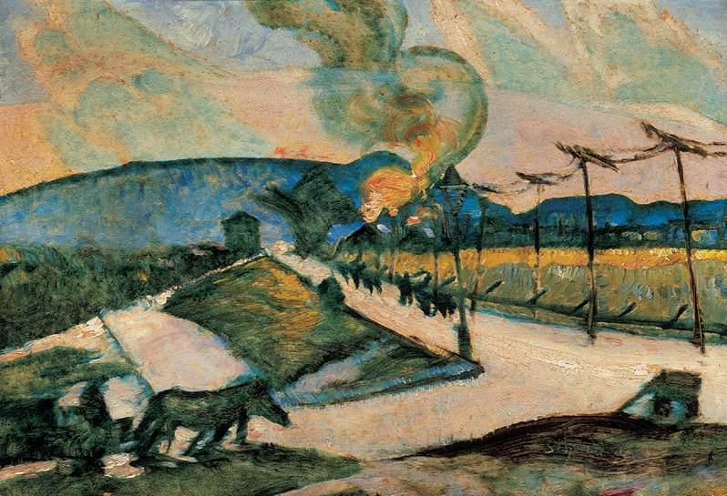 Fire 1922   Hugo Scheiber   Oil Painting
