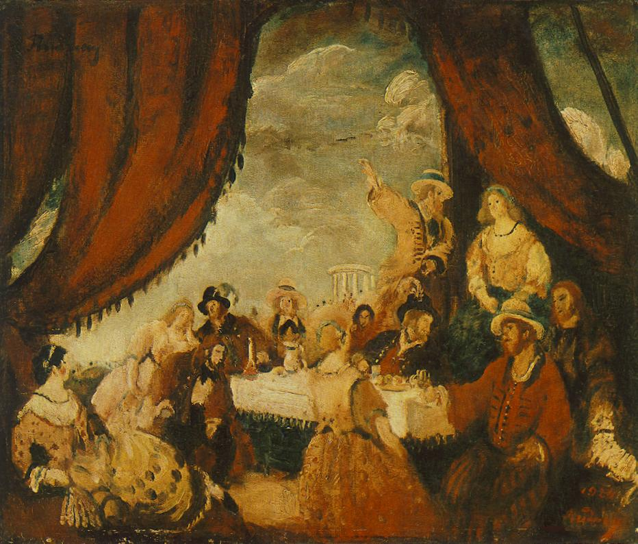 Bohemians 1924 | Gyula Rudnay | Oil Painting