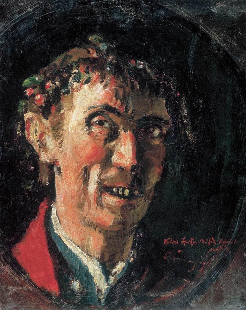 Self-portrait   Gyula Rudnay   Oil Painting