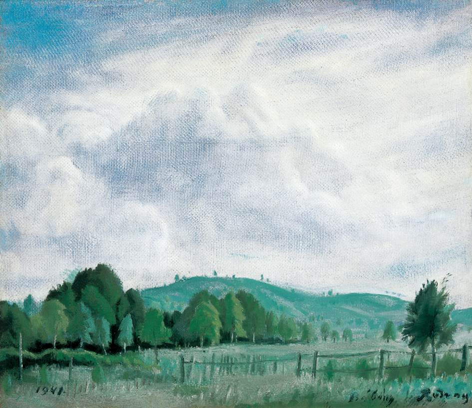 Hilly Landscape 1941   Gyula Rudnay   Oil Painting
