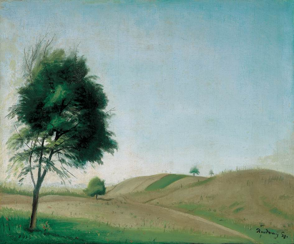 Hilly Landscape 2   Gyula Rudnay   Oil Painting