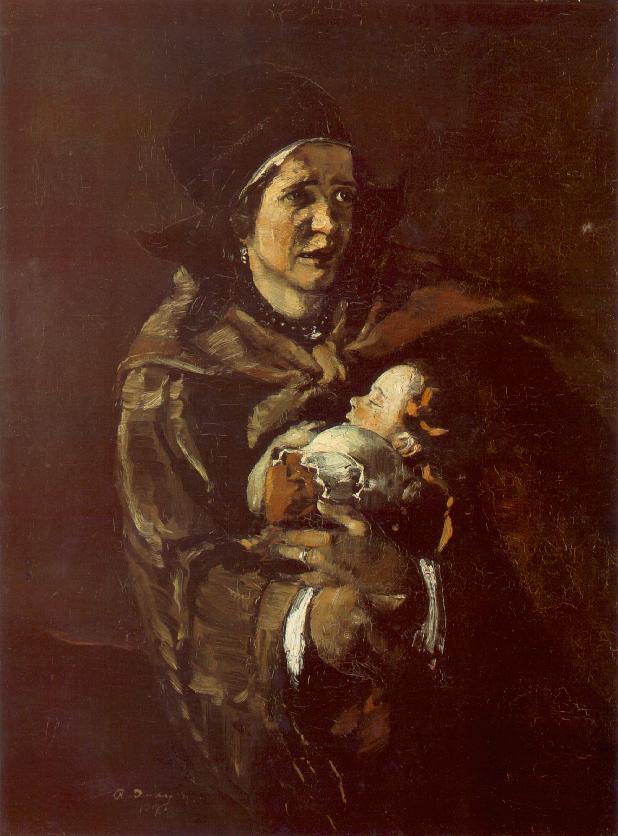 Flighting Woman 1917   Gyula Rudnay   Oil Painting