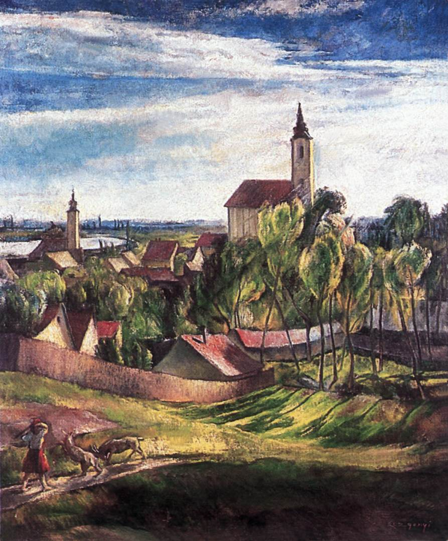 View of Szentendre 1926 29 | Laszlo Rozgonyi | Oil Painting