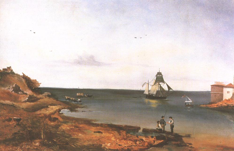 Landscape with Sea 1841 | Floris Romer | Oil Painting