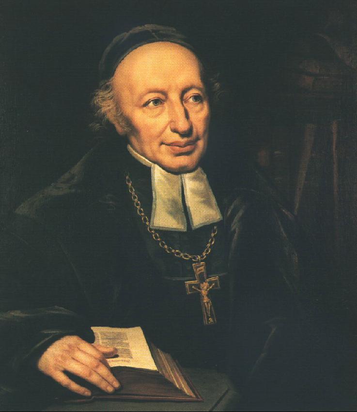Portrait of Historian Ignacius Aurelius Fessler 1821 | Janos Rombauer | Oil Painting