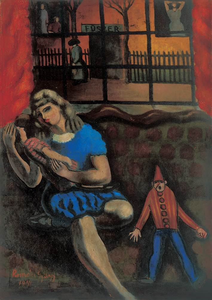 Girl with a Doll 1941 | Gyorgy Roman | Oil Painting