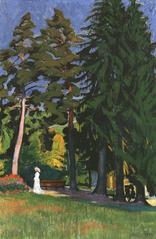 In the Park 1910   Sandor Ziffer   Oil Painting