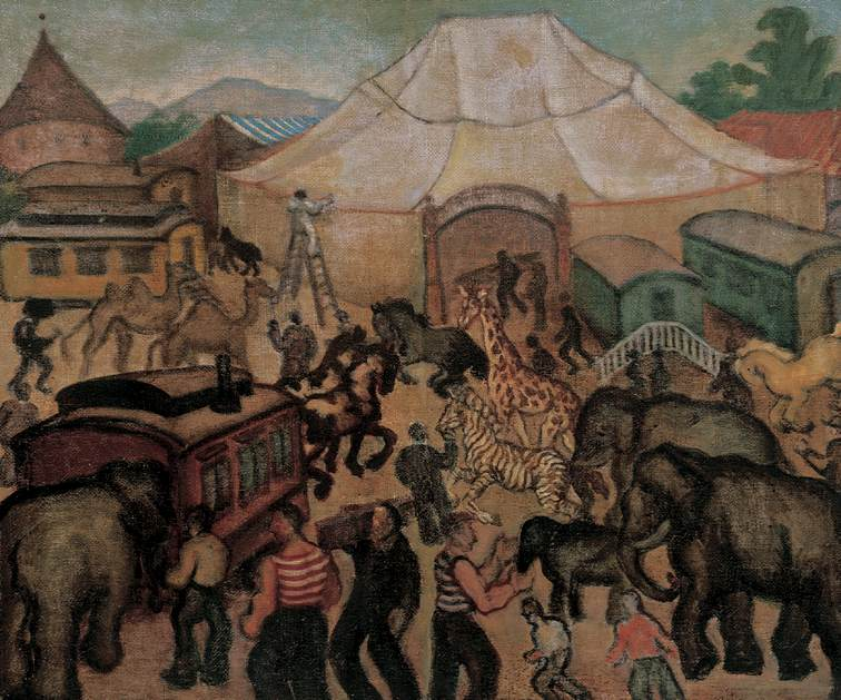 Circus c 1930 | Gyorgy Roman | Oil Painting
