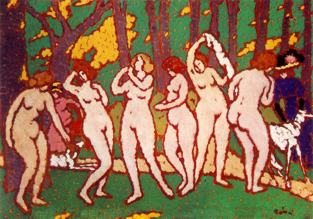 Park with Nudes   Jozsef Ronal Rippl   Oil Painting