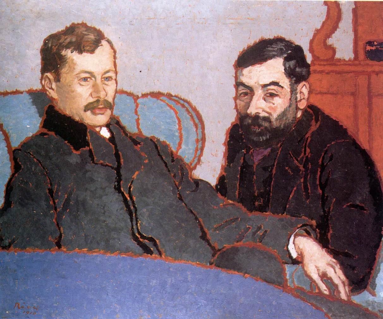 Elek Petrovics and Simon Meller 1912 | Jozsef Ronal Rippl | Oil Painting