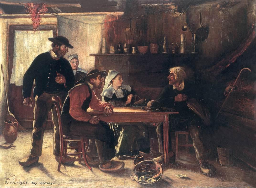 Inn at Pont Aven 1889 | Jozsef Ronal Rippl | Oil Painting