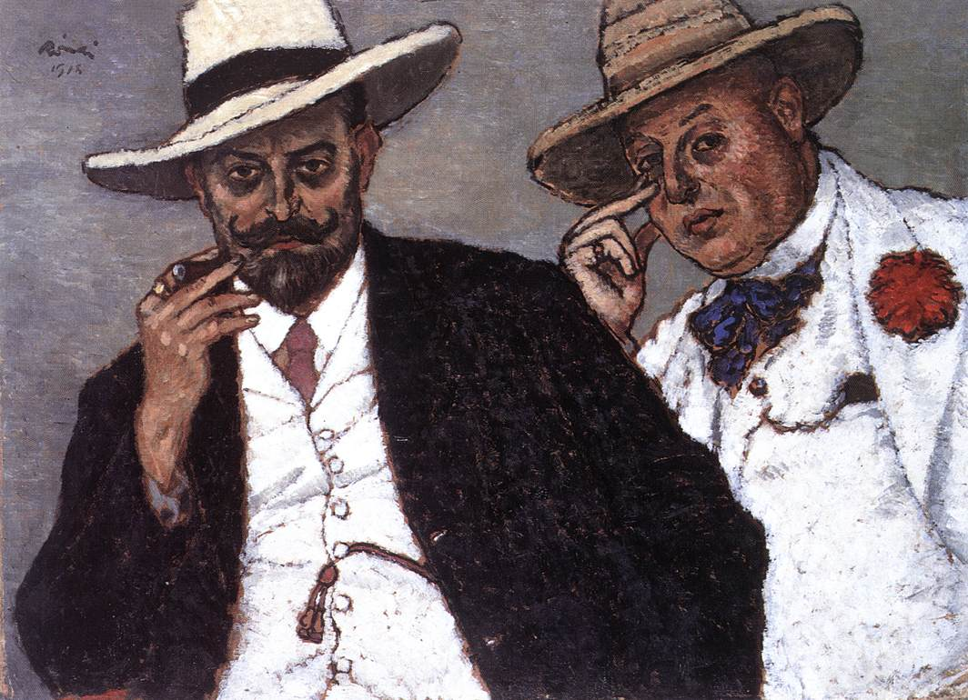 Lajos and odon (My Brothers) 1918 | Jozsef Ronal Rippl | Oil Painting