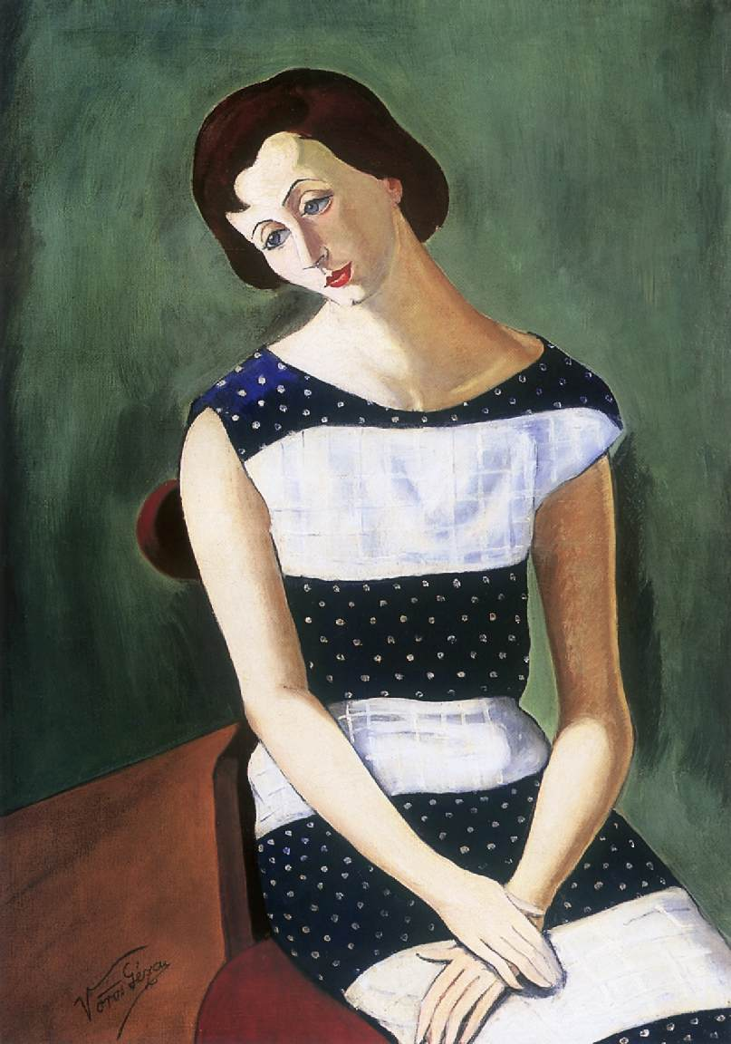 Seated Womanc 1930 | Geza Voros | Oil Painting