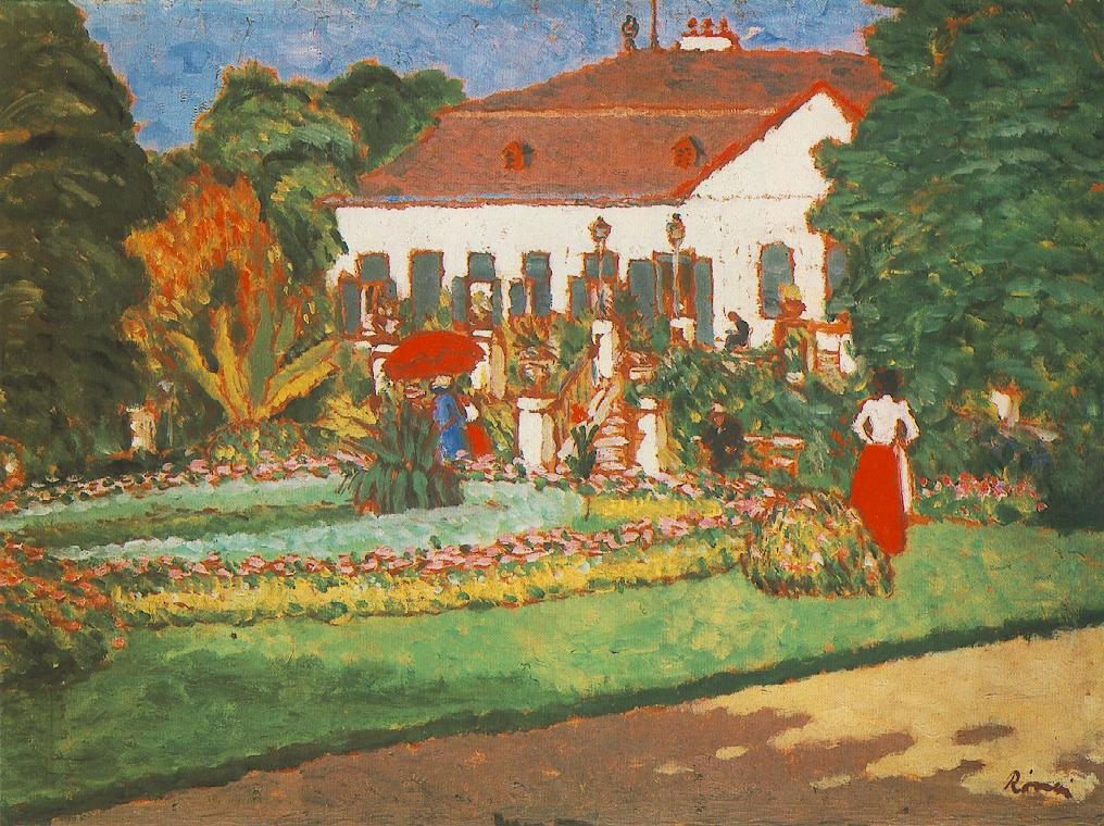 Manor house at Kortvelyes 1907 | Jozsef Ronal Rippl | Oil Painting