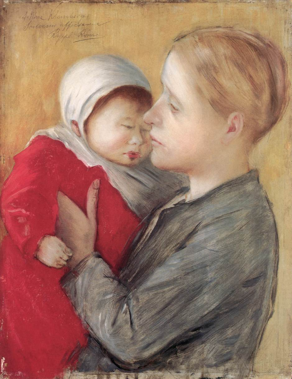 Mother with Child 1890 | Jozsef Ronal Rippl | Oil Painting