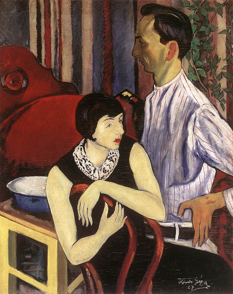 Painter and His Model 1927 | Geza Voros | Oil Painting